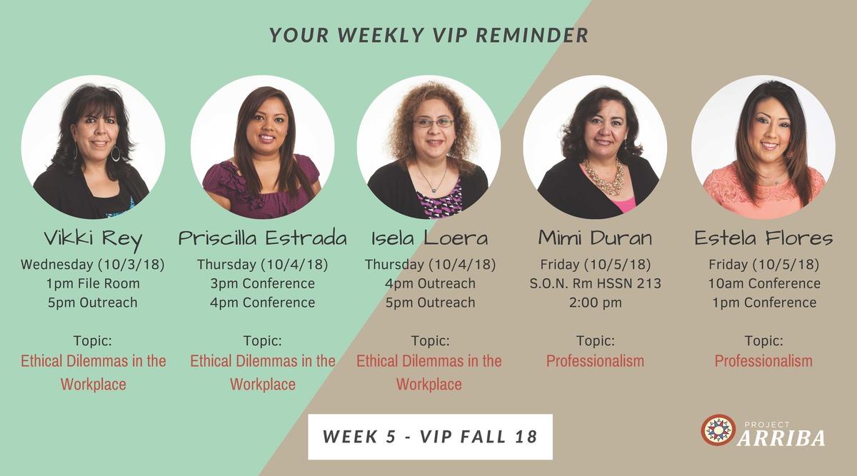 Fall 18 vip week 5