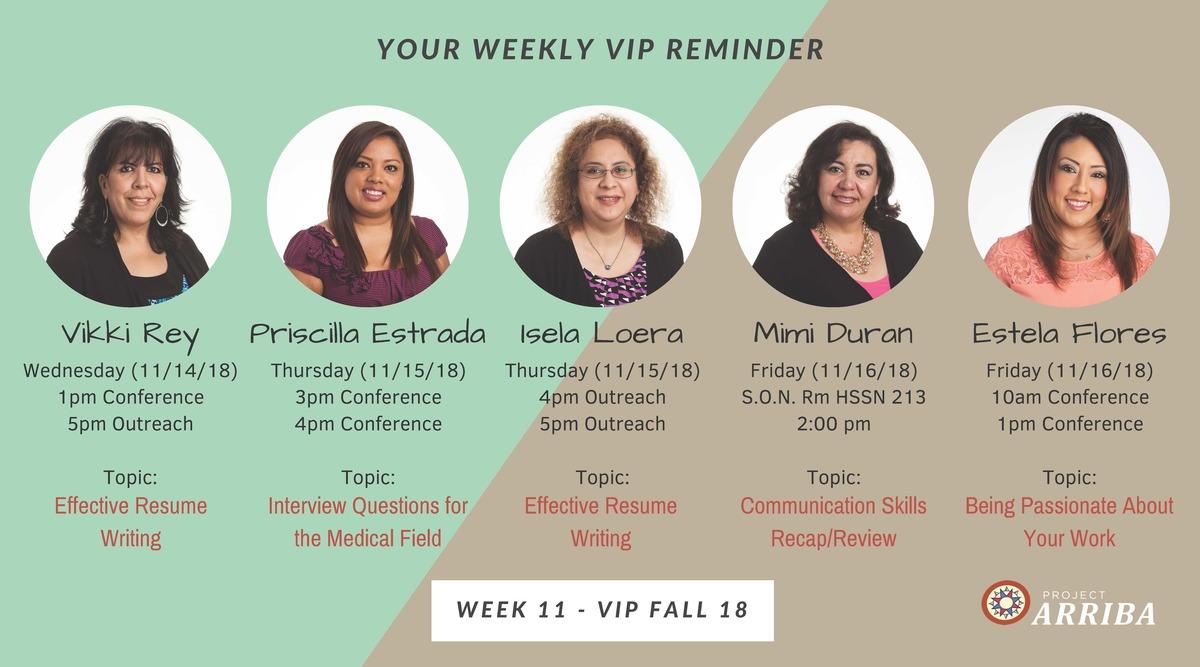 Fall 18 vip week 11